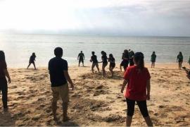 Beach Series 35pax Corporate Team Building with HR team