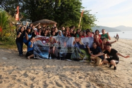 Beach Series 35pax Corporate Team Building with HR team