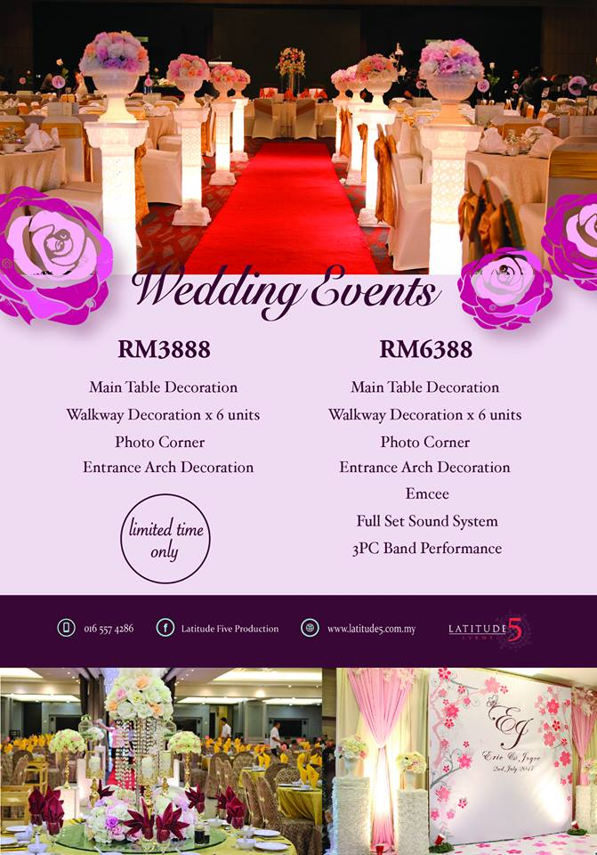 Wedding Events Penang Latitude Five
