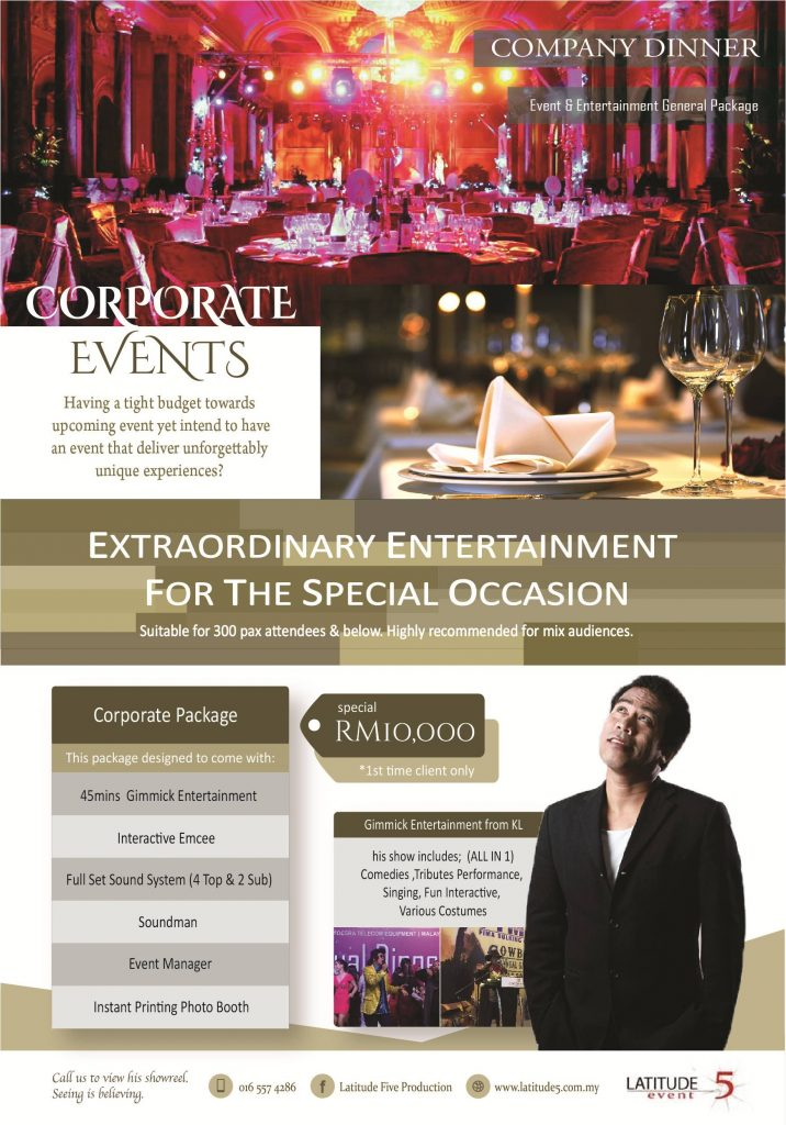 Penang Corporate Event & Entertainment Package