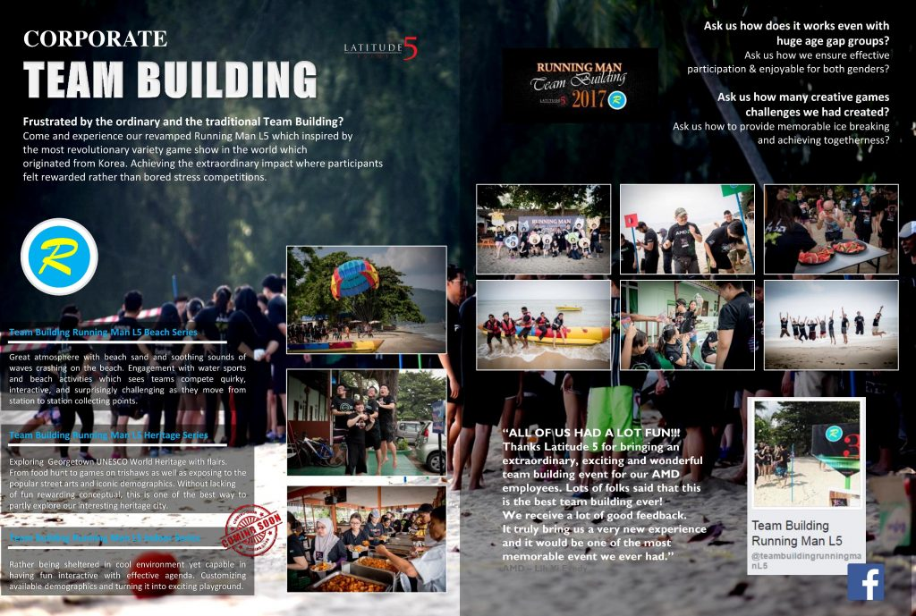 Penang Corporate Team Building Events Running Man